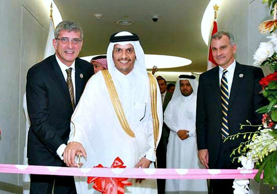 The Opening of Canadian Embassy in Qatar - 550x486